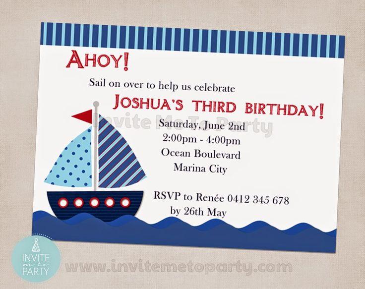 Nautical Birthday Party  Invite Me To Party: Sailboat Birthday Party / Nautical Birthday Party