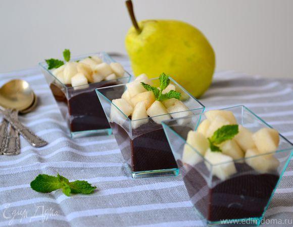 Десерт «Шоколад и груша»  Попробуйте облегченный вариант знаменитого десерта —…
