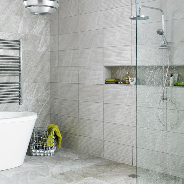 modern grey bathroom tiles looking great