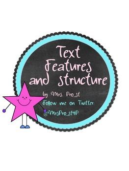 In this free product you'll see a sample of my Text Feature and Structure pack.   In this download you'll find:  *Text Feature pre-reading scavenger hunts… 3 different kinds! *Text Feature Activity: Making Predictions *Text Structure Sort *3 types of Text Structure graphic organizers for each type of text structure: Description, Sequence, Compare & Contrast, Cause & Effect, Problem & Solution  Check it out!