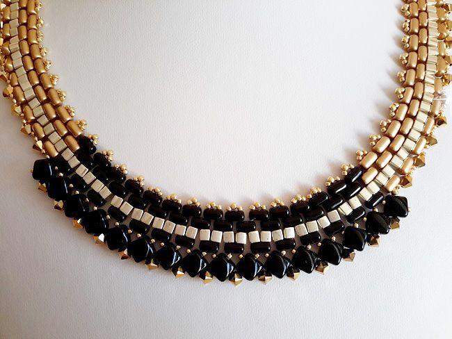 collar-oro-negro-perla de vidrio-rullas-tops-sedoso-bead-espíritu de final 1