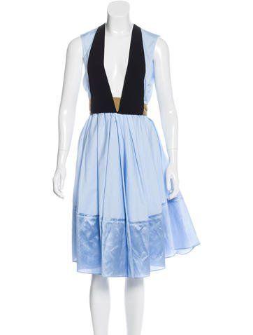 Balenciaga Belted A-Line Dress