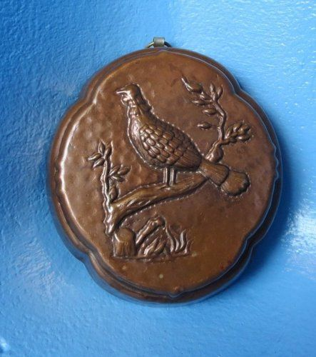Vintage Copper Cake Mold with Bird & Tree in High Relief Kitchen Decor! Gift!