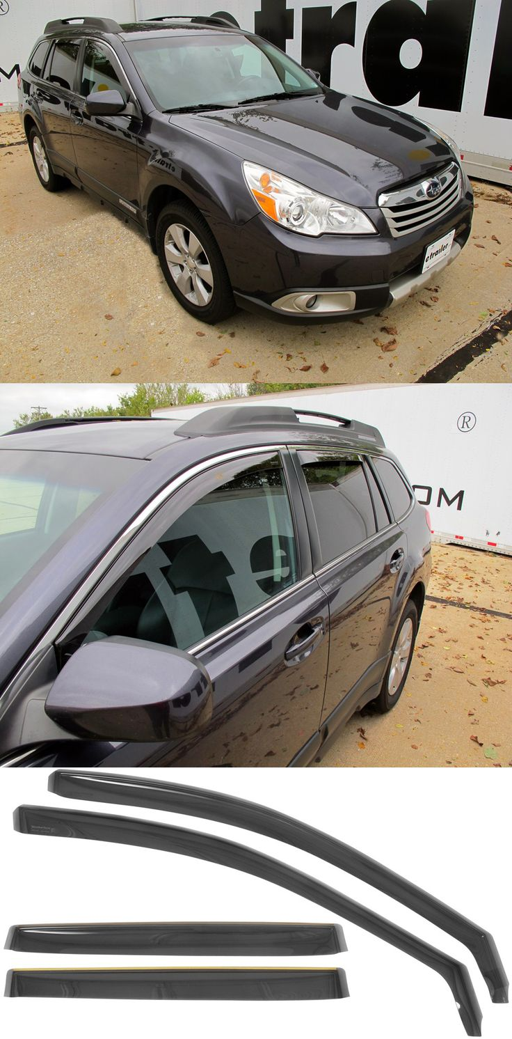 WeatherTech Air Deflectors for the Subaru Outback Wagon! Lets fresh air in while keeping bad weather out. Reduce wind noise and help keep interior temperatures low by promoting better air circulation. One of the most popular Subie accessories!