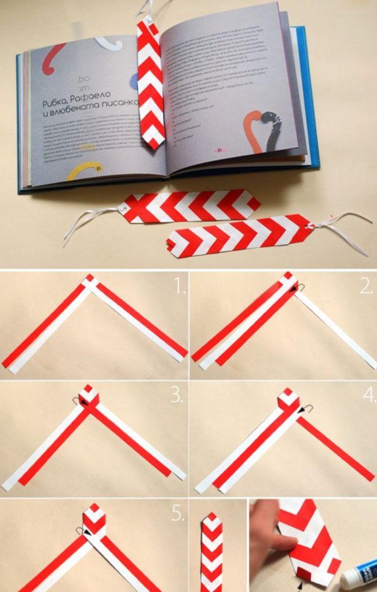 Für dieses Lesezeichen werden Papierstreifen geflochten                                                                                                                                                                                 Mehr