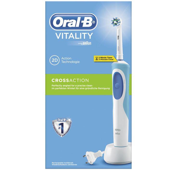 Oral B Vitality Cross Action ηλεκτρική οδοντόβουρτσα αποτελεσματικός καθαρισμός στα απομακρυσμένα σημεία με χρονόμετρο για την διάρκεια βουρτσίσματος Pha Oral B Vitality Brushing Teeth Power Toothbrush