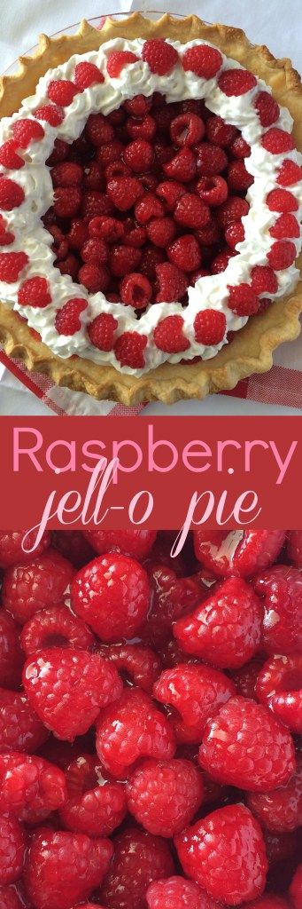 Raspberry Jell-O Pie - Together as Family