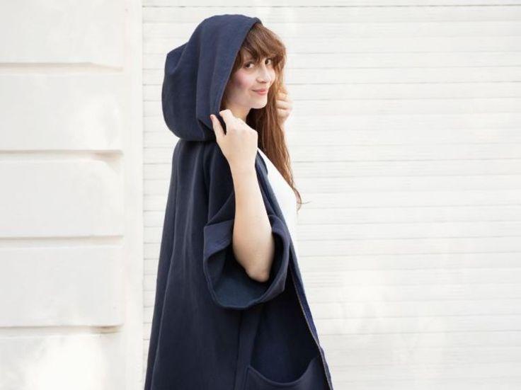 Tutoriales DIY: Cómo hacer una sudadera oversize con capucha vía DaWanda.com