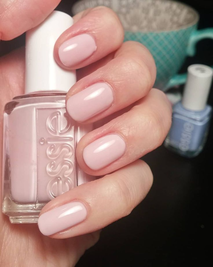 "125 Likes, 5 Comments - Vicky H-W (@vhw.nails) on Instagram: ""#essie - Minimalistic Love this pink and I'm not usually a pink person... It's the perfect blushed…"""