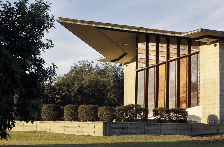 The William H.Danforth Chapel in Florida Southern College Architectural District by Frank Lloyd Wright