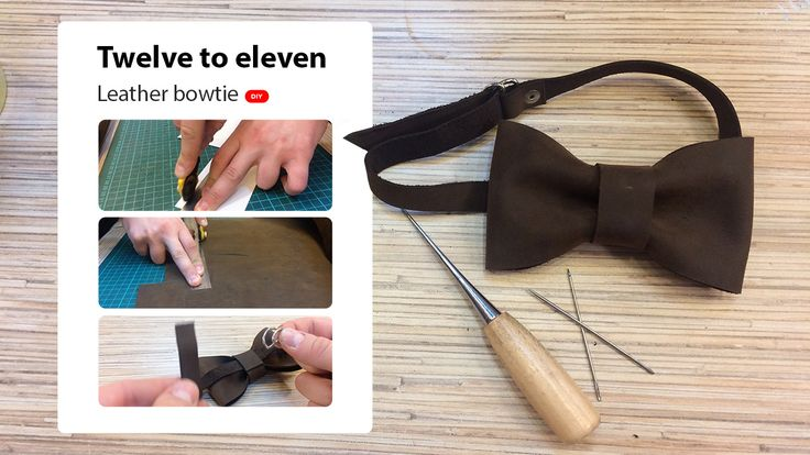 This is my video DIY guide about how to make an leather bowtie) Chek it!) https://www.youtube.com/watch?v=ZI_5qQRQLmA&t=87s