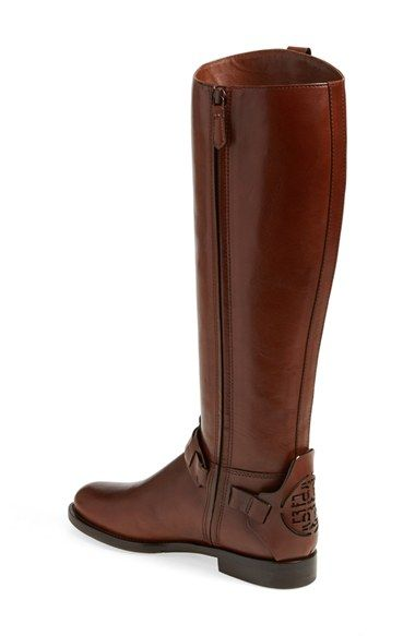 Tory Burch 'Derby' Leather Riding Boot (Women) | Nordstrom