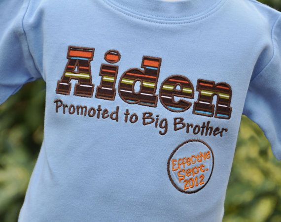 Big Brother Shirt idea - would make cute paper announcement, too!