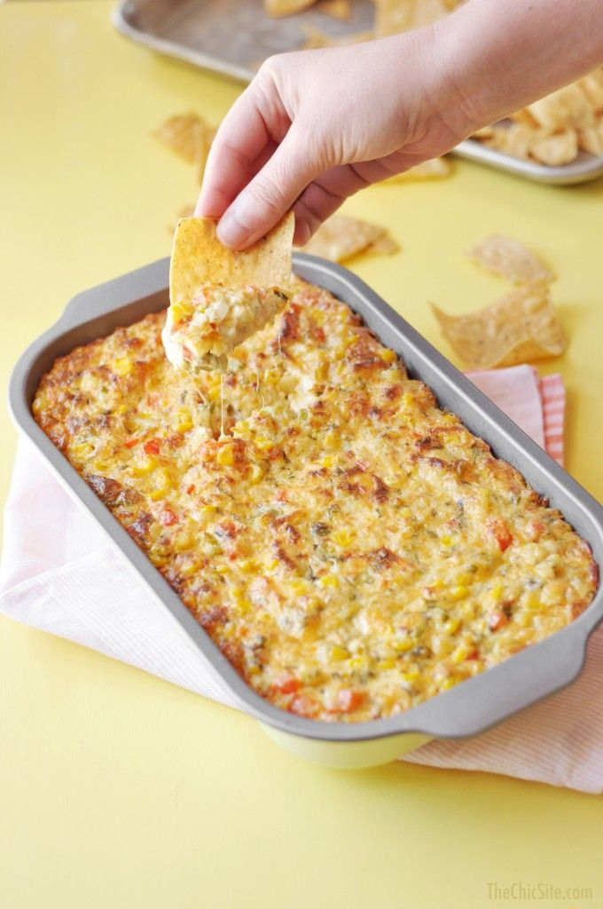 The Chic Site | Spicy Corn Dip | FOOD | Pinterest