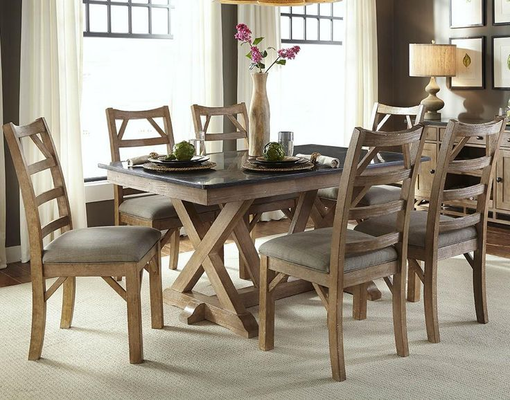 Shop For The AAmerica West Valley Casual 7 Piece Dining Set At Conlinu0027s  Furniture   Your Montana, North Dakota, South Dakota, Minnesota, ...