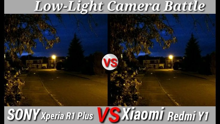 Xiaomi Redmi Y1 vs Sony Xperia R1 Plus 2018 lowlight Camera test