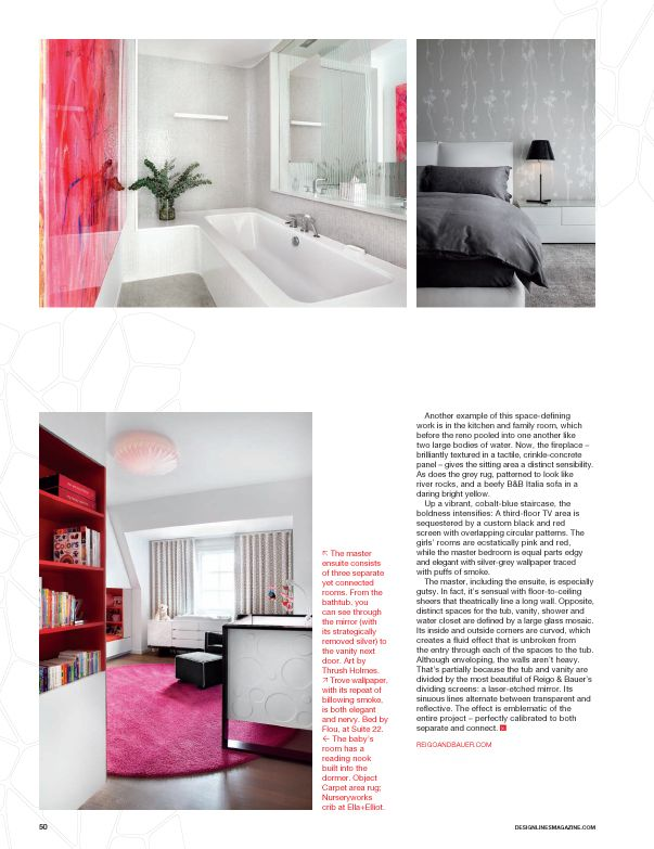 pink nursery furniture. this hot pink and white ellaelliot baby nursery appears in the latest issue of furniture