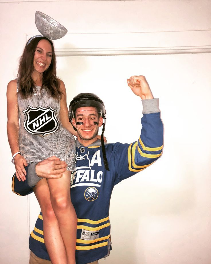 Nhl Couple Costume Hockey In 2020 Couples Costumes Couple Halloween Costumes Stanley Cup Costume