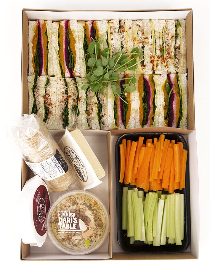 Awesome Spring racing picnic hampers - just $65. Feeds 4-6 people. Packaged and ready to go! All packaging is biodegradable and can be thrown out at the end of the day! | The Happy Apple