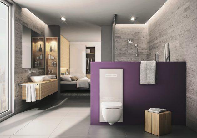 Badezimmer - Schlafzimmer offen - TECE - Badideen - Bathroom