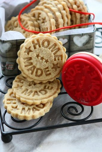 Peanut Butter Spelt Homemade Stamped Cookies FROM Angies Recipes
