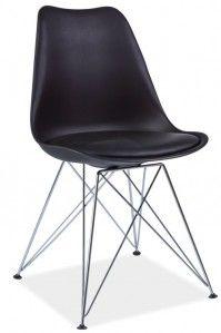 Krzesło - Quadre - Jerry Metal - czarny