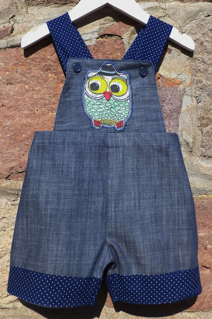 Overall Shorts in Jean