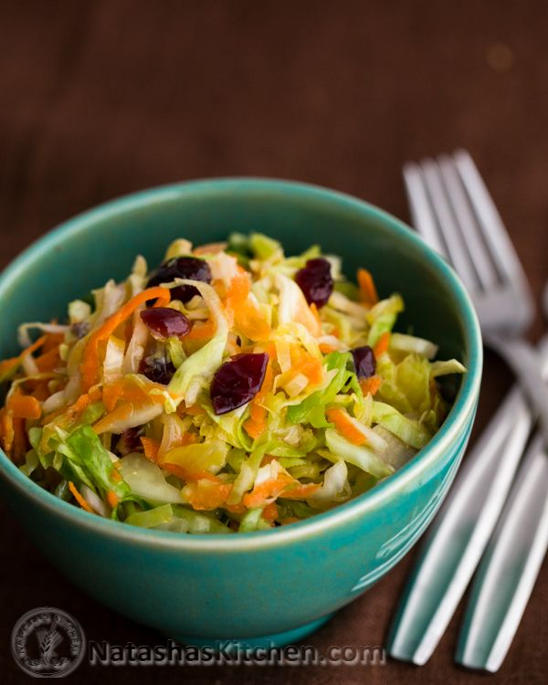Cabbage, Carrot and Cranberry Salad Recipe. I love that this can be made in advance and only gets better with time...