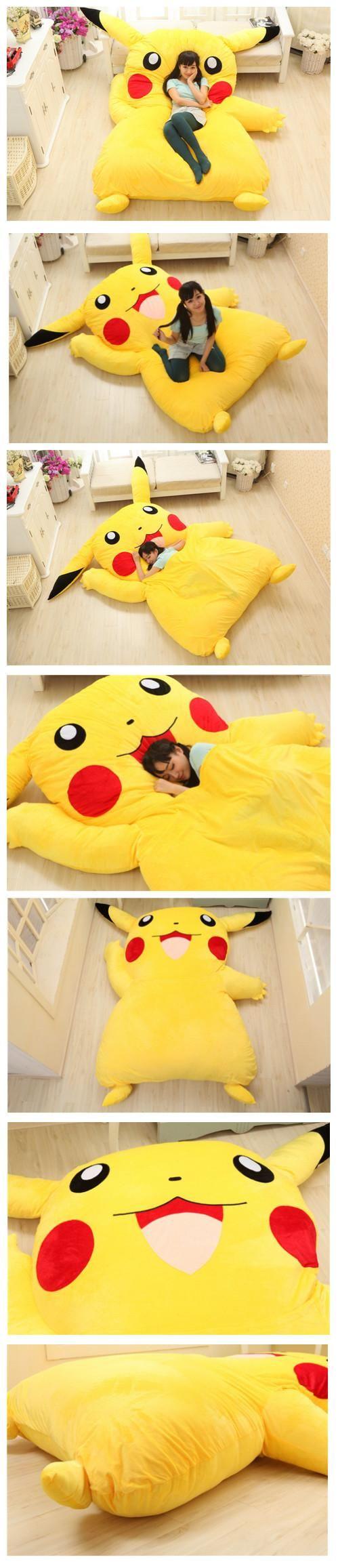 Venda Por Atacado Projeto Pikachu Grande Sofá 2.1m * 1.5m Pikachu Dedpika Chu Cama De Casal Pikachu Saco De Dormir Em Kingkraey, $314.14 Em Pt.Dhgate.Com | Dhgate