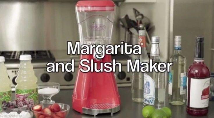 #MARGARITA Slush Maker #FROZENDRINK MACHINE Smoothie Blender DAIQUIRI Mixer VIDEO #NostalgiaElectrics $63.95