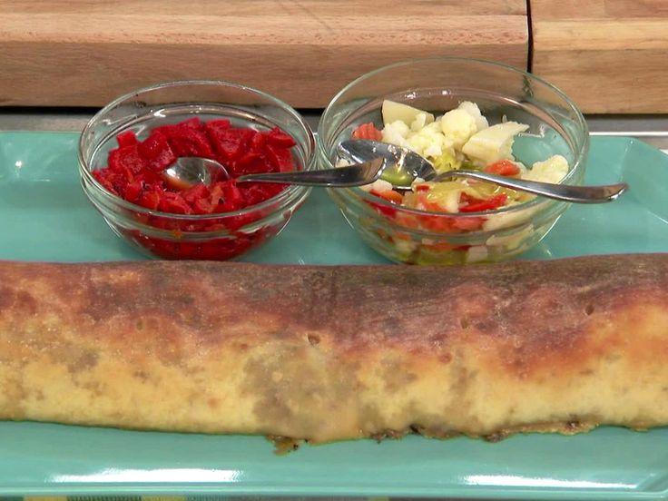 Stuffed Italian Beef Stromboli recipe from Jeff Mauro via Food Network