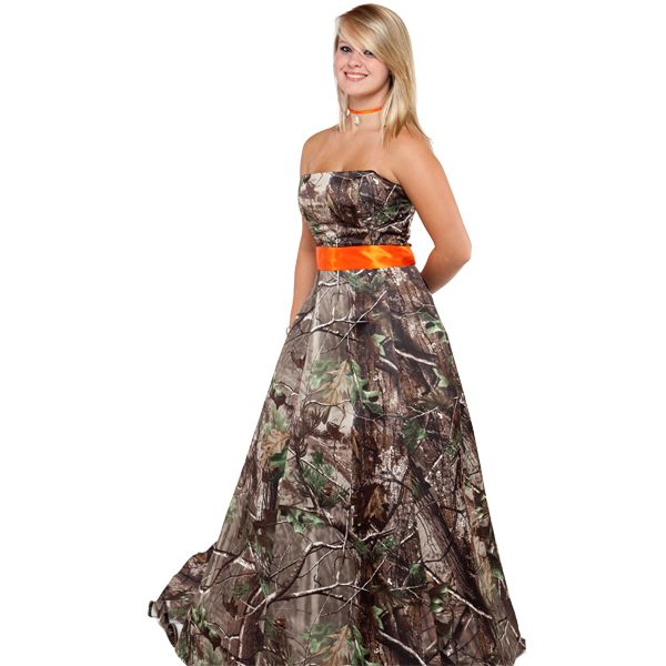 111 best images about redneck party ideas on pinterest for Orange and camo wedding dress