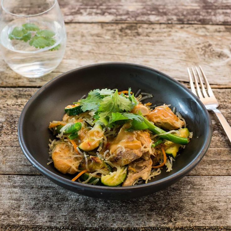 Satay Chicken with Vermicelli and Veggies