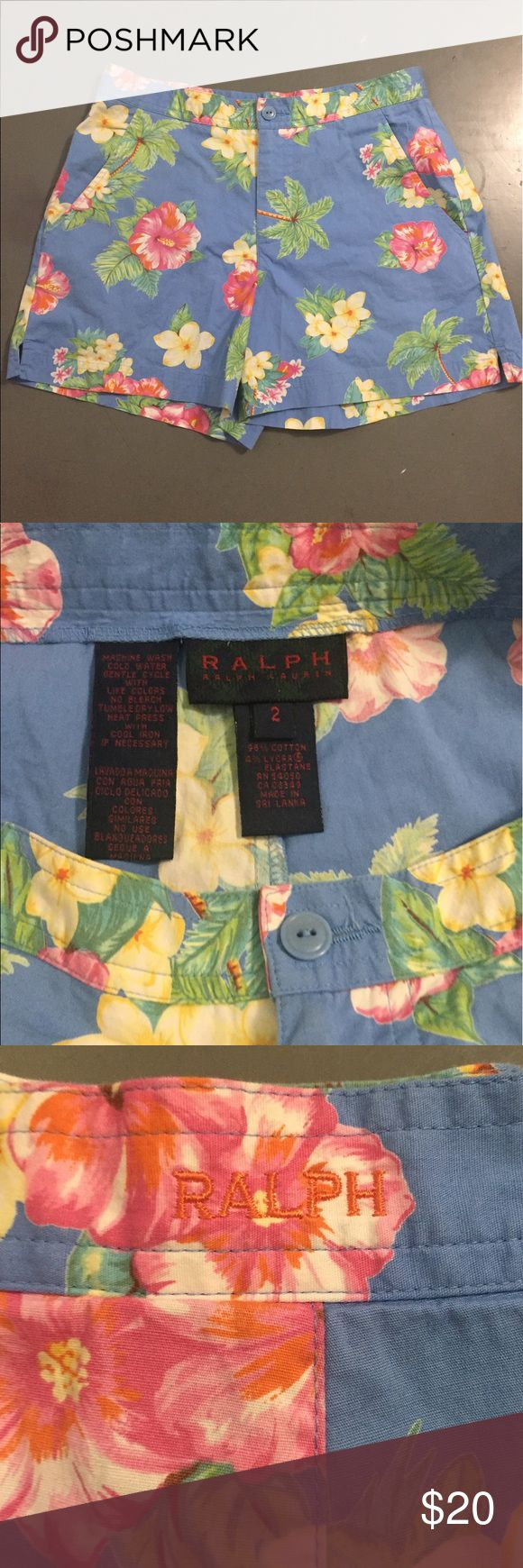 """Ralph Lauren women's floral shorts Ralph Lauren women's floral shorts. These have a floral pattern throughout shorts. Also have """"Ralph"""" embroidered as pictured on back waist of shorts. These are perfect for a day out golfing or you could even dress these up!! Ralph Lauren Shorts"""