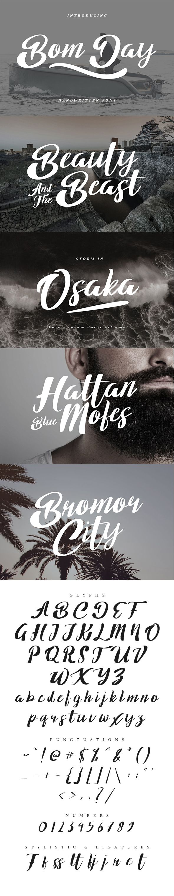 Bom Day Font — TrueType TTF #handwriting #clean • Download ➝ https://graphicriver.net/item/bom-day-font/19776101?ref=pxcr