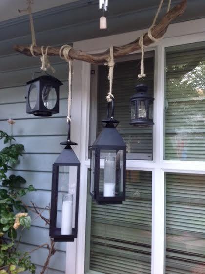 Driftwood, DIY With Mixed Lanterns
