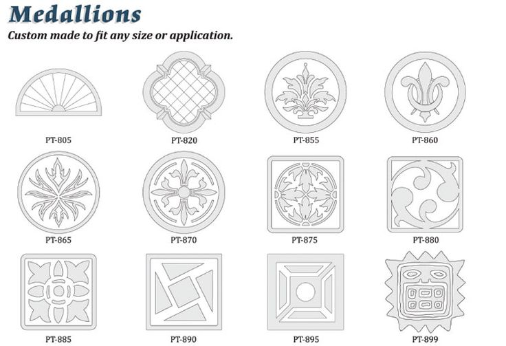 Medallions custom foam decorative shapes outdoor living pinterest for Architectural medallions exterior