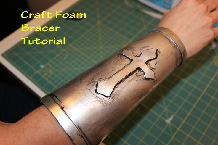 Super easy craft foam bracer! Craft Foam is easy to work with and is very flexible. This bracer took less than 2 hours to create (dry time not accounted for)...