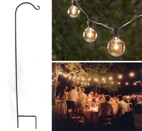 Outdoor Lighting Ideas Inexpensive Tall Shepherds Hooks Event Decor Pinterest Outdoor