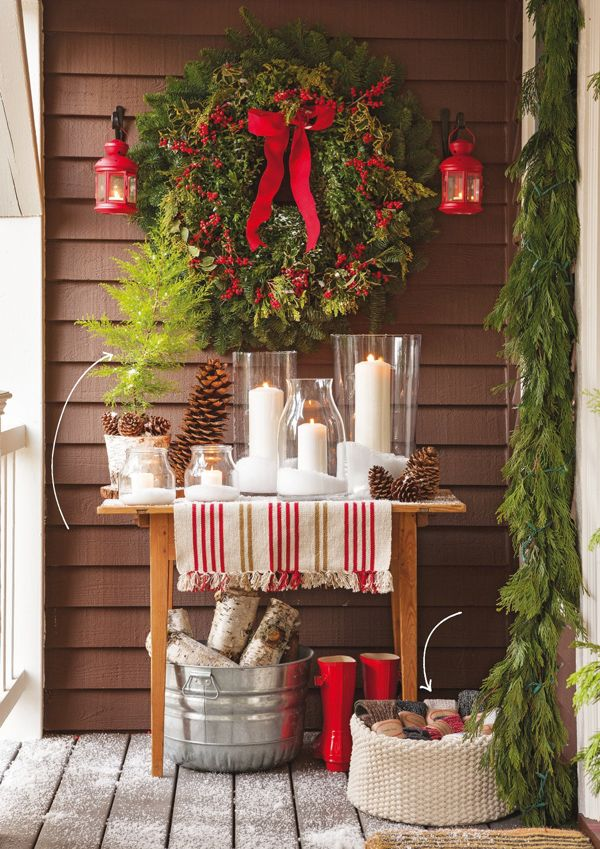 Christmas Display on the Porch | Better Homes and Gardens