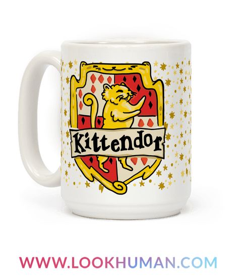 The sorting cat will sort your wizardly, kitten self in the house of its choosing! This time the sorting cat has chosen, Kittendor! Show off your nerdy side and your love for the wizarding world and cute fluffy cats with this funny, harry potter house parody cat coffee mug!