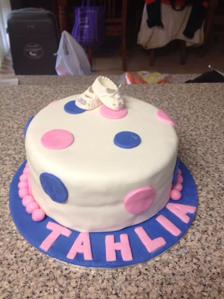 Tahlias christening cake and one of the earlier ones I have done.