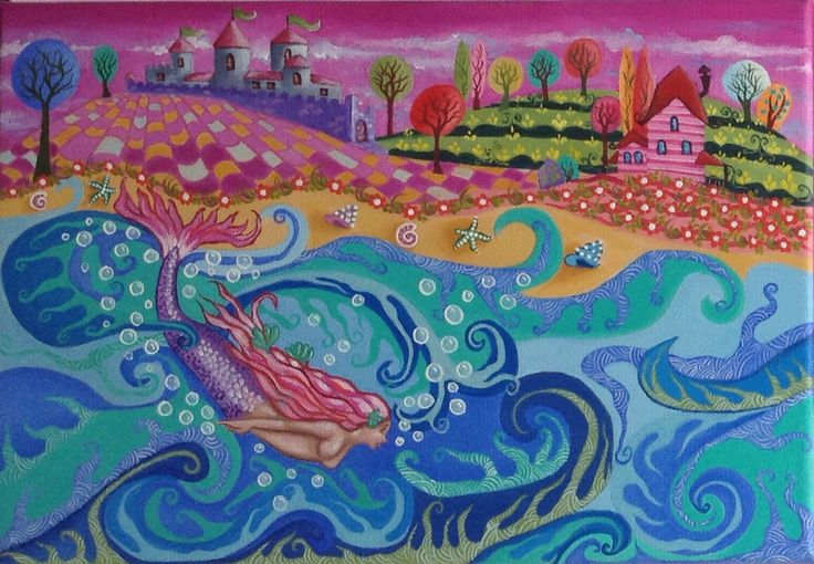 """Oil painting 32x22cm """"DIVING IN OBLIVION"""""""