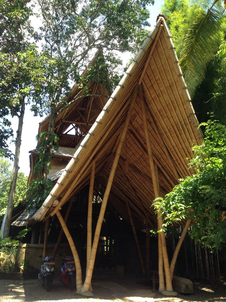 Bambu Indah's entrance to Lobby. Located in Ubud, Bali.