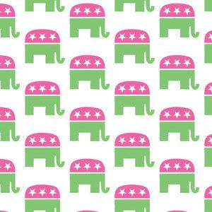Republican party seamless pattern vector image