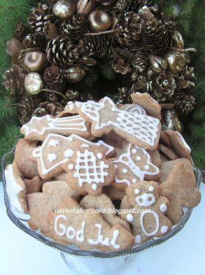 teller-cake: Pepperkake, norvég karácsonyi keksz