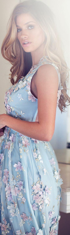 Lange kleider pastell