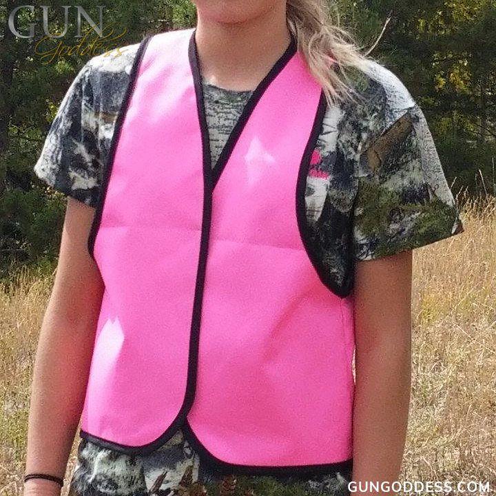 Blaze Pink Hunting Safety Vest Vest, Concealed carry