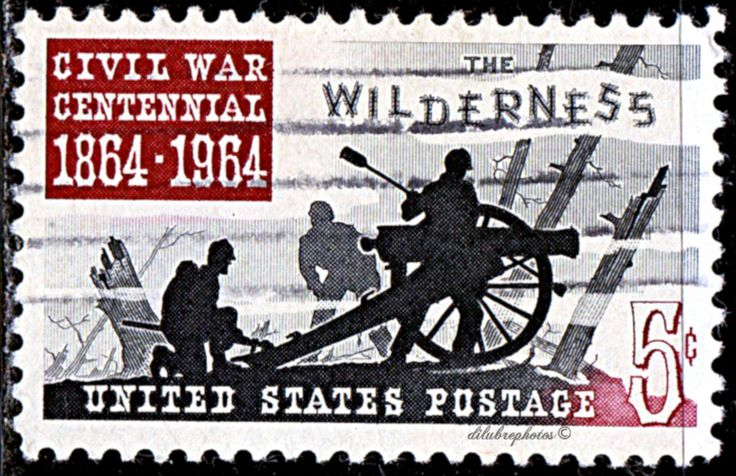 USA.  Civil War Centennial Issue. Battle of the Wilderness, 1864. Centenary of the Battle of Wilderness.  Scott A619 1181.  Issued 1964 May 5.  Giori Press Printing, Perf. 11, 5c. ldb.