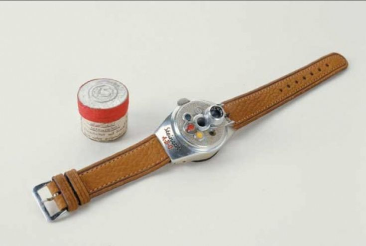 Steineck ABC Wristwatch Camera. Circa 1949. Made in Germany, used by the KGB.   20 Cool KGB Cold War Spy Devices